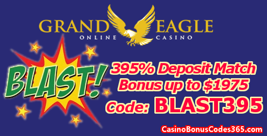 Grand Eagle Casino 395% up to $1975 Deposit Match Bonus