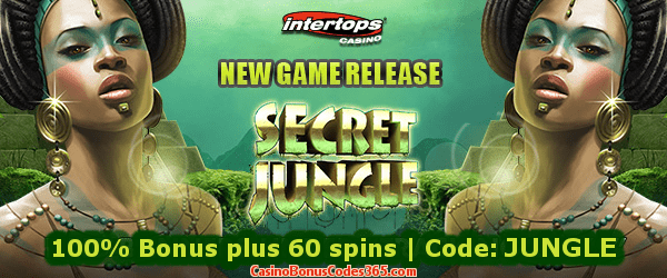 Intertops Casino Red New Game RTG Secret Jungle