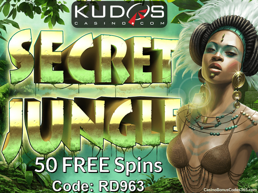 Kudos Casino 35 FREE Spins new RTG game Secret Jungle