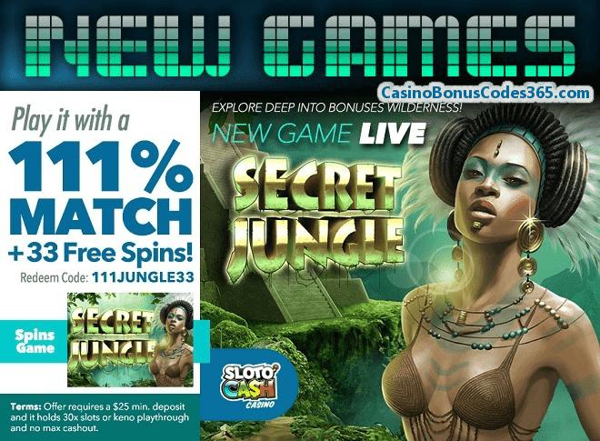 SlotoCash Casino Gods of Nature New RTG Game 111% Bonus plus 33 God of Spins