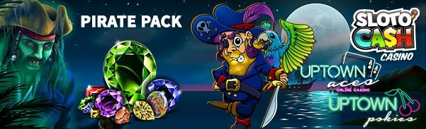 SlotoCash Casino uptown Aces uptown Pokies 350 Pirate Pack