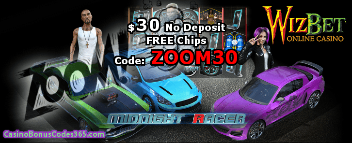 WizBet Online Casino $30 FREE Chip