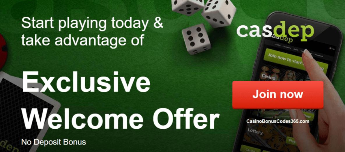 Casdep Casino Red Daily No Deposit Welcome Bonus List