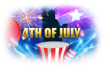 Intertops Casino Red Independence Day Bonuses 100% up to $500 plus $30 FREE Chip