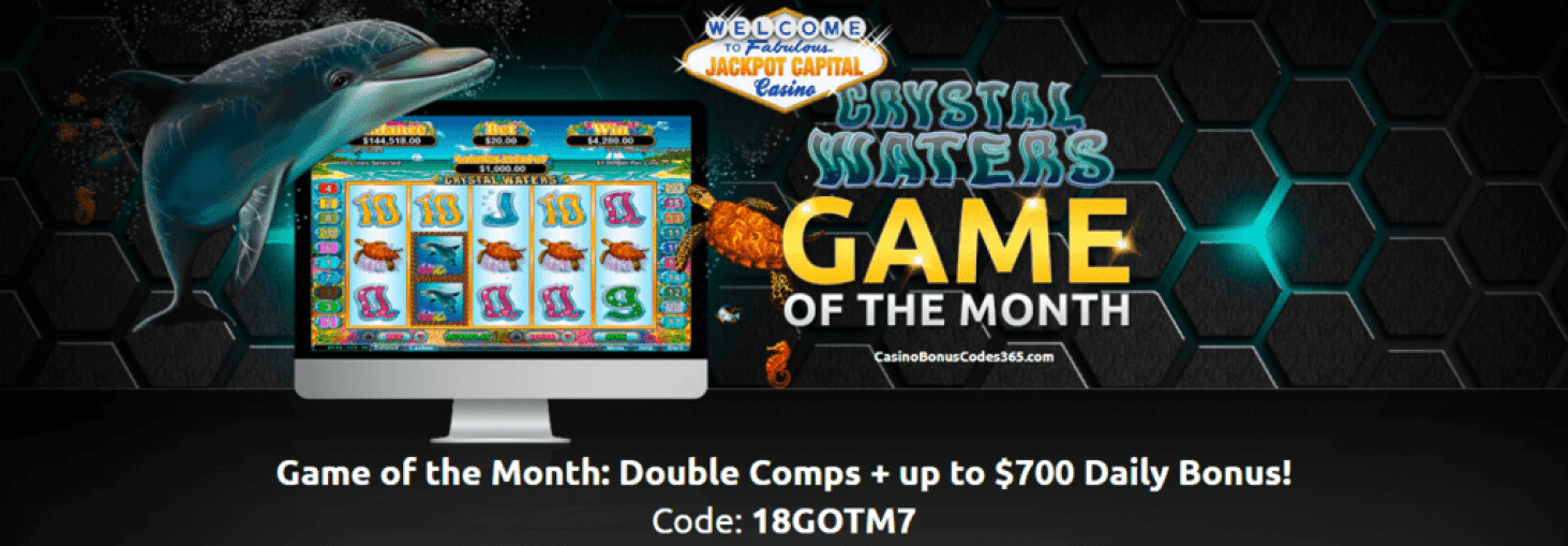 Jackpot Capital July Game of the Month RTG Crystal Waters