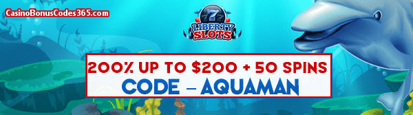 Liberty Slots 200% up to $200 plus 50 Spins Dolphin Reef