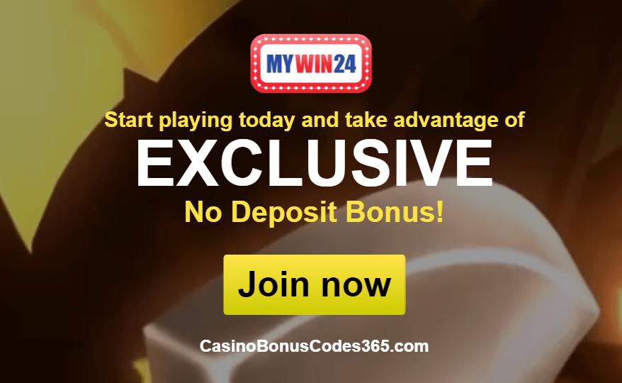 MyWin24 Casino Exclusive No Deposit Welcome Bonus