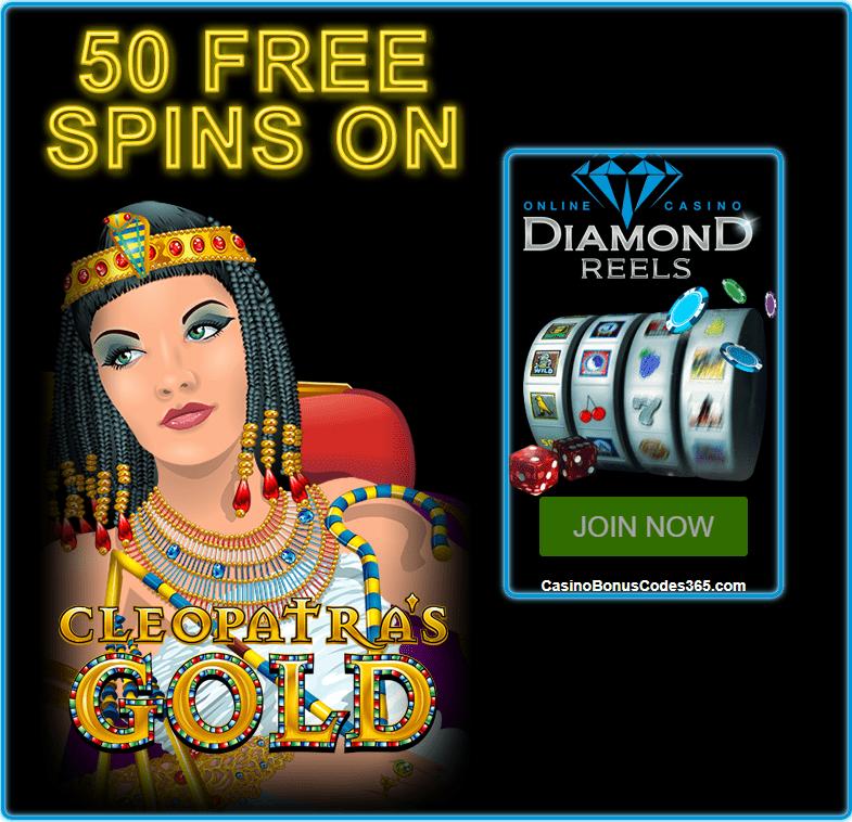 Diamond Reels Casino 50 FREE Cleopatras Gold RTG
