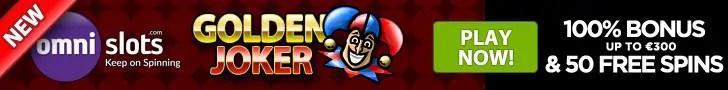 Omnislots New Game Golden Joker 100% Welcome Bonus plus 70 FREE Spins