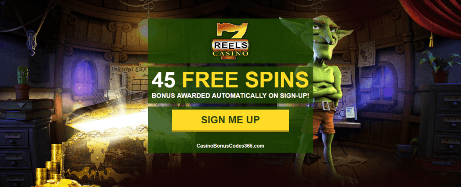 7 Reels Casino Exclusive 45 FREE Spins No Deposit Welcome Bonus