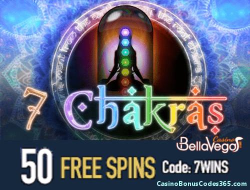 Bella Vegas Casino Saucify 50 FREE Spins 7 Chakras