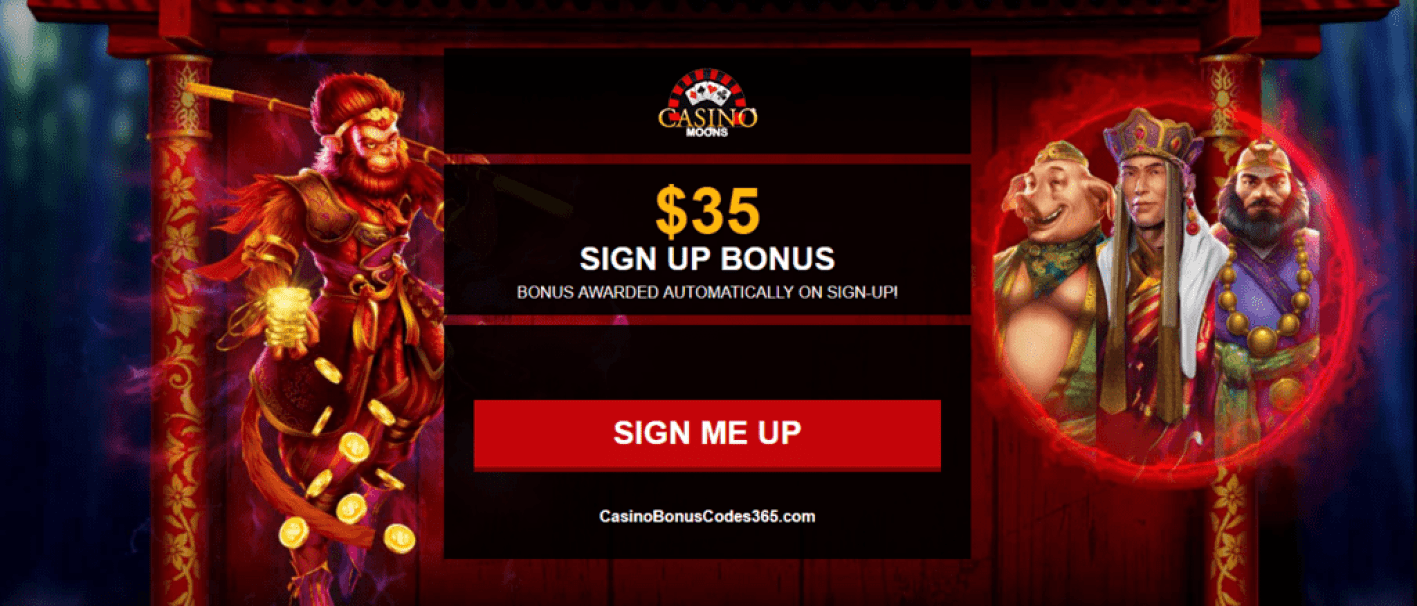 Casino Moons $35 No Deposit FREE Chip Welcome Bonus