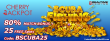 Cherry Jackpot RTG Scuba Fishing New Game Release Offer 80% Match plus 25 FREE Spins