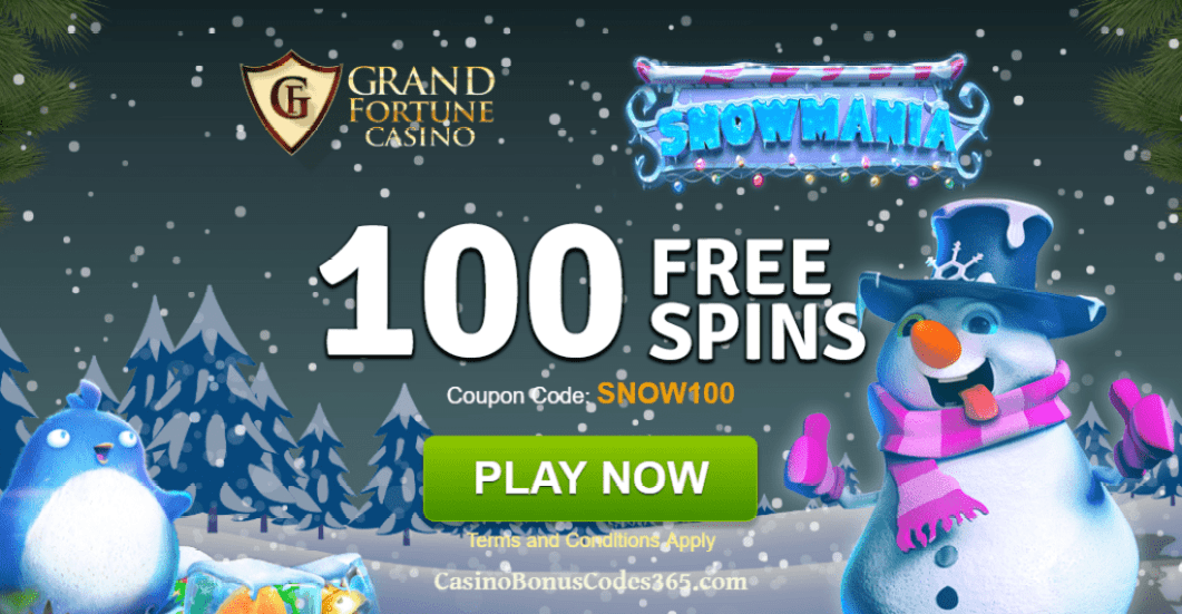 Grand Fortune Casino 100 FREE RTG Snowmania Spins