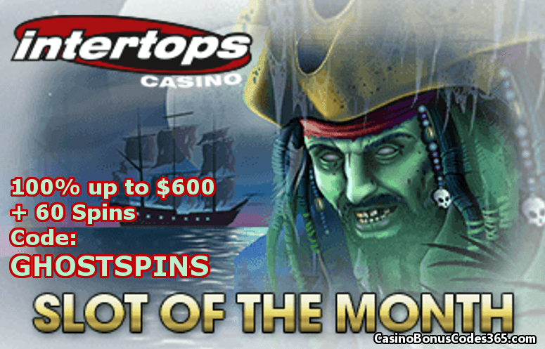 Intertops Casino Red October Slot of The Month RTG Ghost Ship 100% up to $600 plus 60 FREE Spins