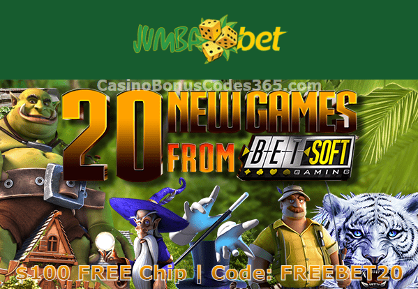 Jumba Bet $100 FREE Chip 20 New Betsoft Games Special Promo