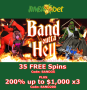 Jumba Bet New Game Band Outta Hell 35 FREE Spins plus 200% Match Bonus
