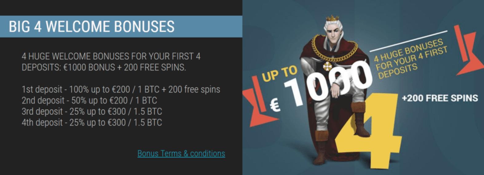 кинг билли казино бонус код