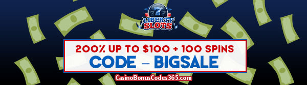 Liberty Slots 200% up to $100 Bonus plus 100 FREE Cash Grab Spins Special Offer