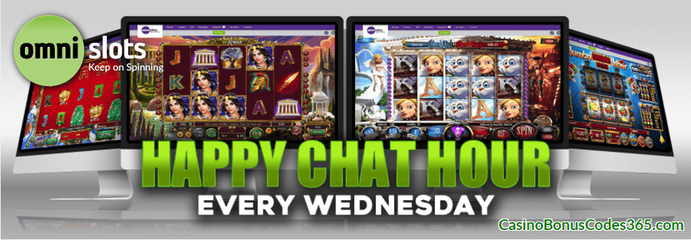 Omni Slots Happy Chat Hour Every Wednesday