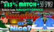 Uptown Aces Naughty or Nice October 225% Daily Match plus 50 FREE Spins
