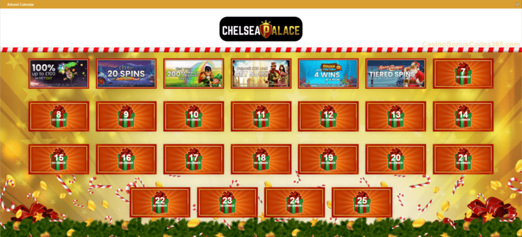 Chelsea Palace Casino Advent Calendar