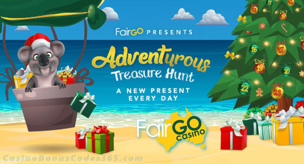 Fair Go Casino Adventurous Treasure Hunt Festive Daily Prizes