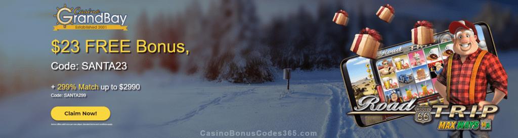 Casino Grand Bay $23 FREE Chip plus 299% Match Bonus Xmas Offer