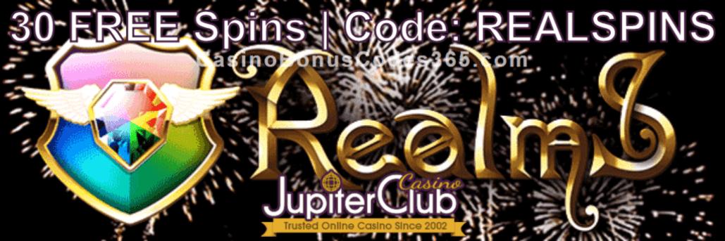 Jupiter Club Casino 30 FREE Saucify Realms Spins