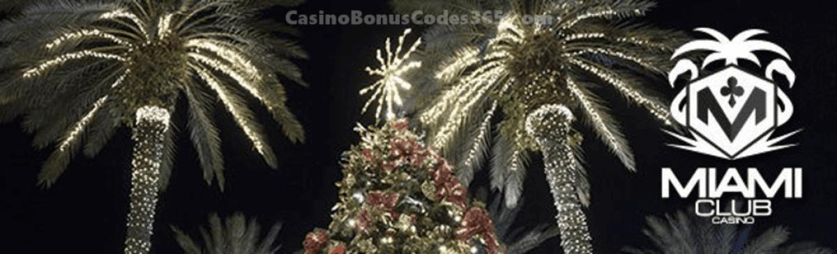 Miami Club Casino Christmas New Year Bonuses and FREEbies