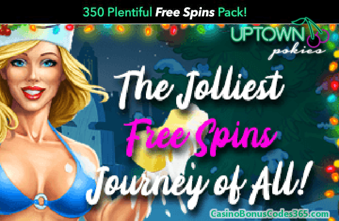 Uptown Pokies Jolliest FREE Spins Holiday Pack