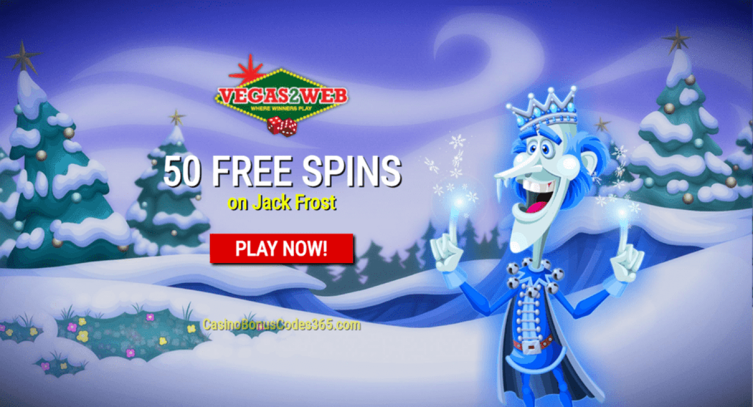 Vegas2Web Casino Exclusive 50 FREE Rival Gaming Jack Frost Spins