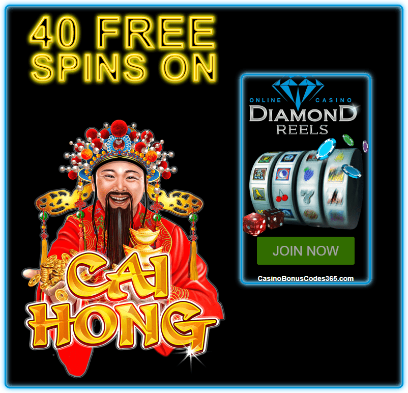 Diamond Reels Casino Exclusive 40 FREE RTG Cai Hong Spins