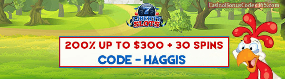 Liberty Slots 200% up to $300 Bonus plus 30 FREE Spins on Dynasty Special Promo