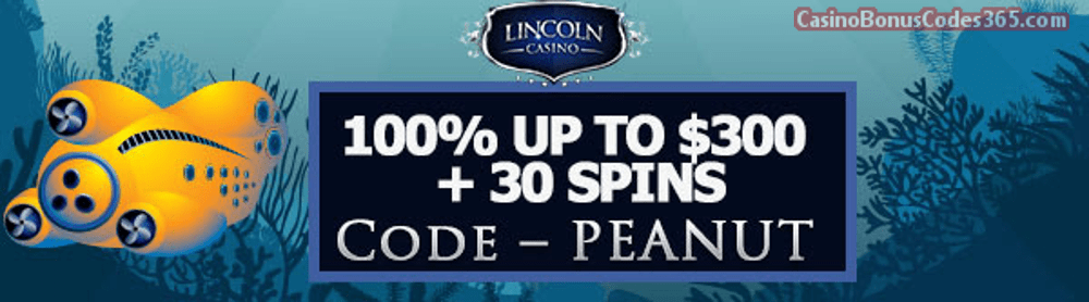 Lincoln Casino 100% up to $300 plus 30 FREE Spins on WGS 20000 Leagues Special Promo