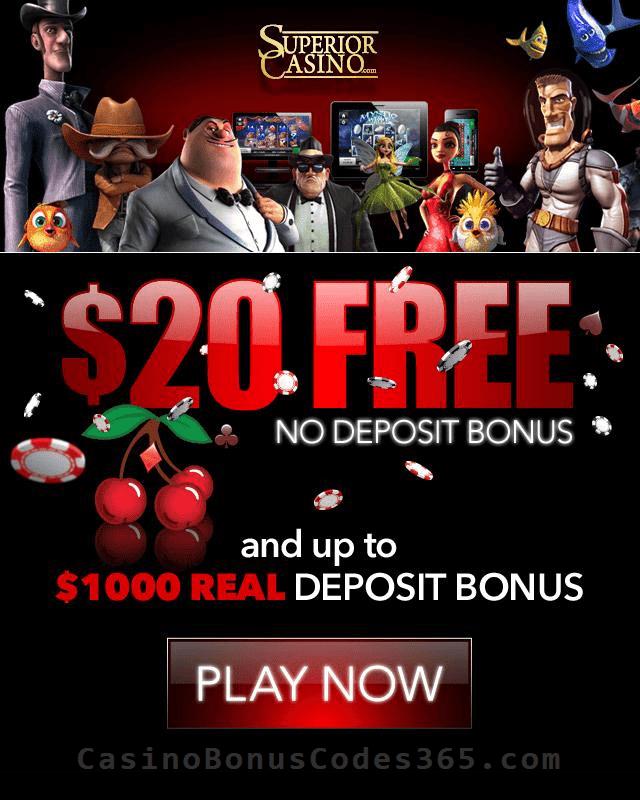 Superior Casino 20 Welcome Free Chip Casino Bonus Codes 365
