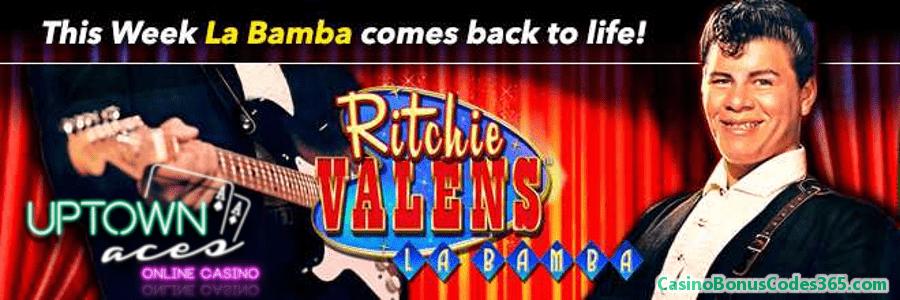 Uptown Aces La Bamba is Back Weekly Match Bonus RTG Ritchie Valens La Bamba