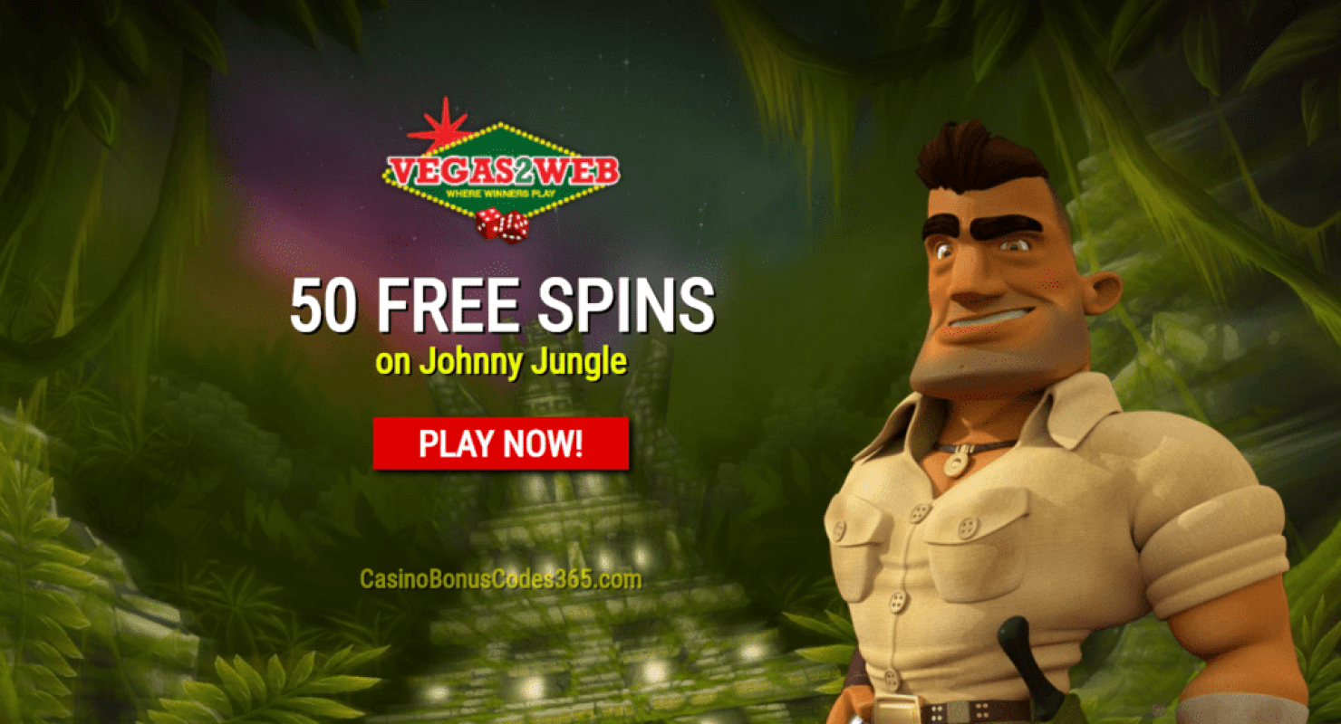 Vegas2Web Casino Exclusive 50 FREE Rival Gaming Johnny Jungle Spins