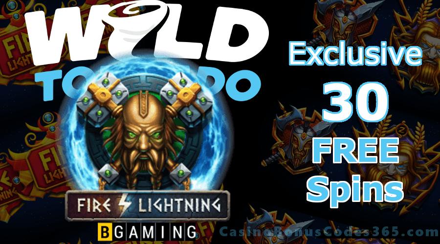 WildTornado Casino Exclusive 30 Welcome FREE Spins