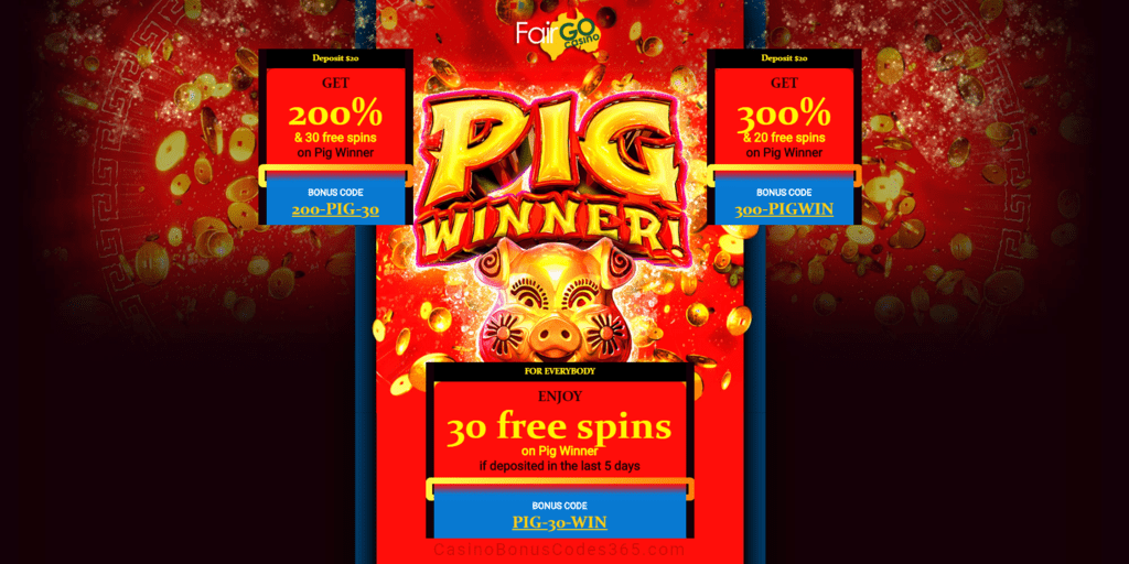 Fair Go Casino New Rtg Game Pig Winner Bonuses And Free Spins