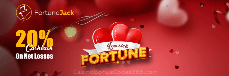 FortuneJack 20% St. Valentine's Day Cashback