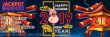 Jackpot Wheel The Golden Year of the Pig Promo 99% up to $496 plus 38 FREE Spins on Betsoft Tails of New York