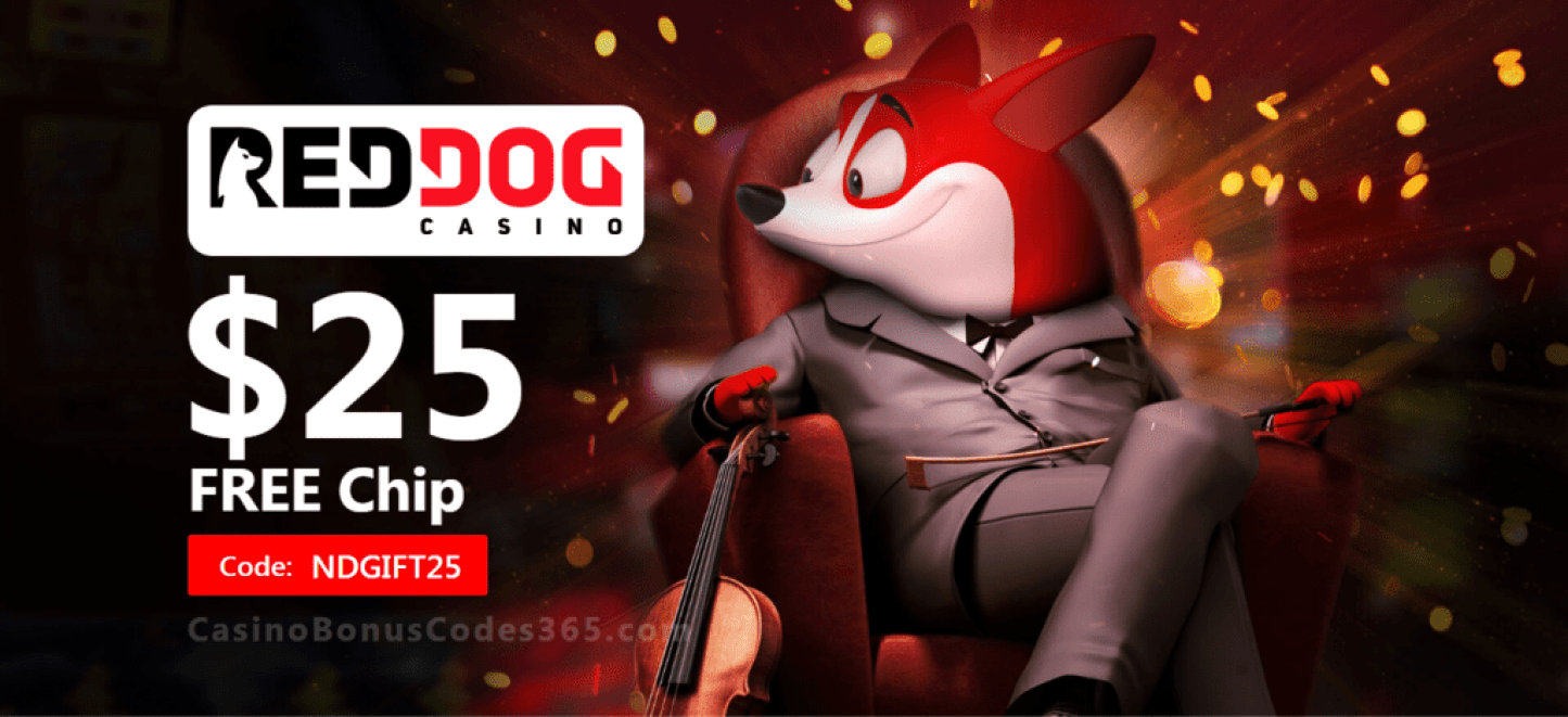 Red Dog Casino Exclusive $25 FREE Chip Welcome Deal