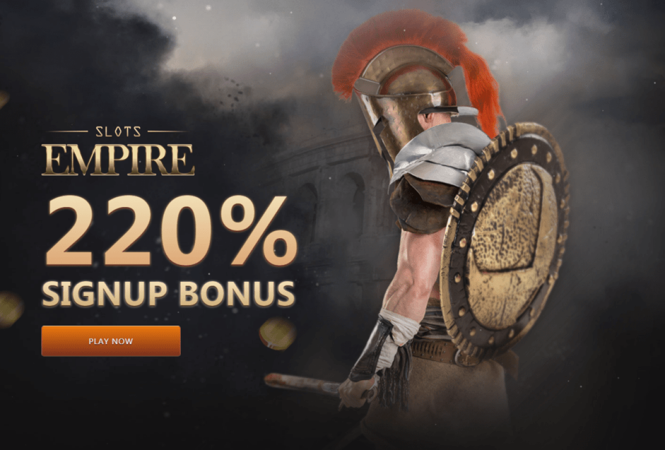 Slots Empire 220% Bonus Welcome Package