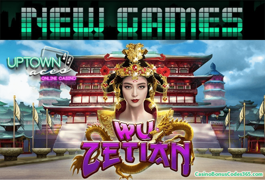 Uptown Aces New RTG Game Wu Zetian 111% Bonus plus 111 FREE Spins
