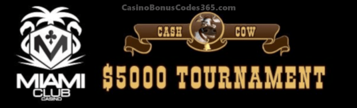 Miami Club Casino $5000 March Month Long Tournament WGS Cash Cow