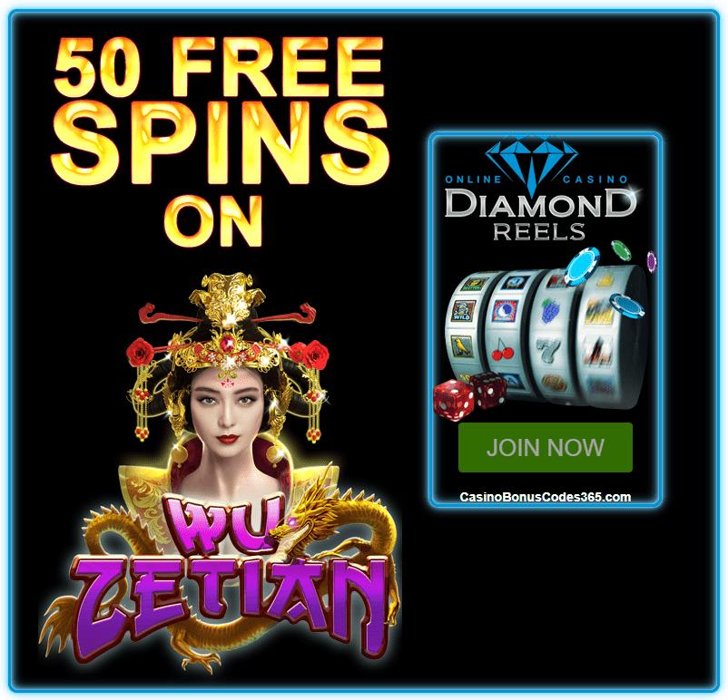 Diamond Reels Casino Exclusive 50 FREE RTG Wu Zetian Spins