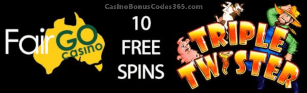 Fair Go Casino 20 FREE RTG Triple Twister Spins