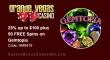 Grande Vegas Casino 25% up to $100 plus 50 FREE Spins RTG Gemtopia Special Promo