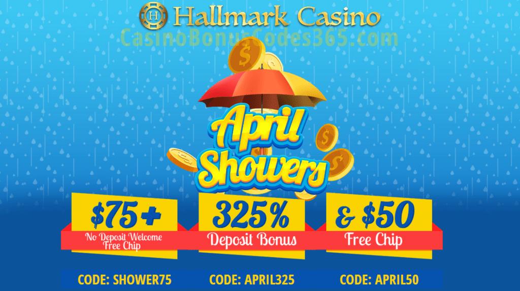 Hallmark Casino April Showers 125 Free Chip And 325 Bonus